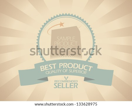 Best product design template in retro style. - stock vector