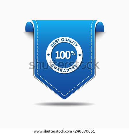 Best Quality Blue Vector Icon Design - stock vector