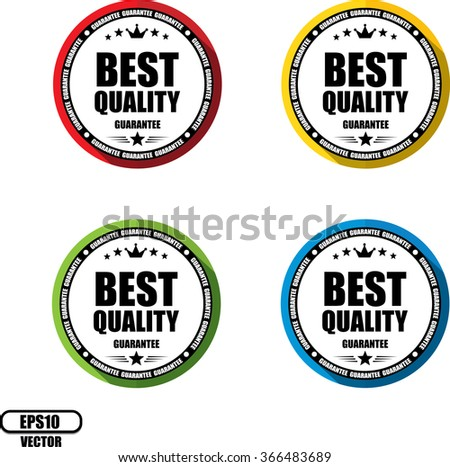 Best quality guarantee, Button, label and sign - Vector illustration - stock vector