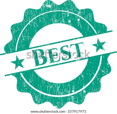 Best rubber stamp with grunge texture - stock vector