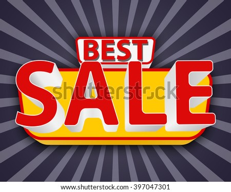 Best sale, best sale banner, best sale icon, best sale advertise, best sale background - stock vector
