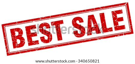 best sale red square grunge stamp on white - stock vector