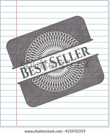 Best Seller emblem drawn in pencil