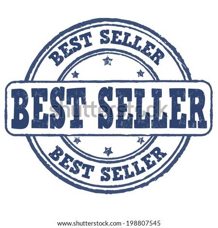 Best seller grunge rubber stamp on white, vector illustration - stock vector