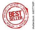 Best seller rubber stamp. - stock photo