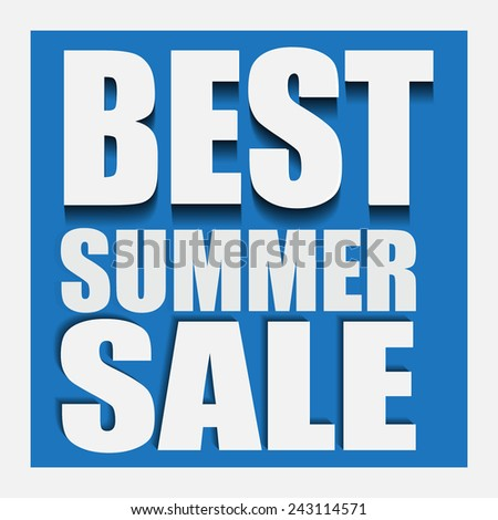 best summer sale  tag vector / sticker / banner