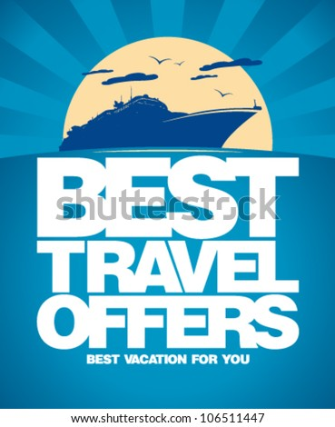 Best travel offers advertising design template.