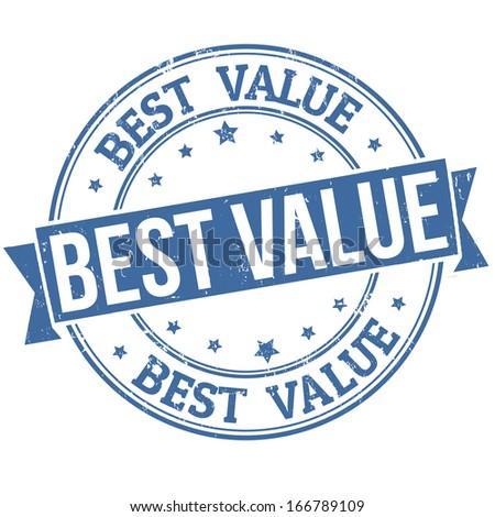 Best value grunge rubber stamp on white, vector illustration - stock vector