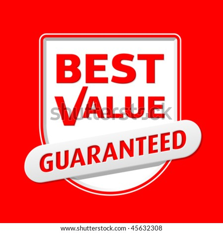Best Value. Vector. Easily replaceable color. - stock vector