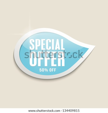 Best vector discount, sale stickers labels bubble icon. - stock vector