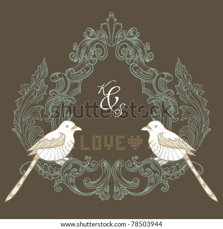 best wedding invitation card ever - stock vector
