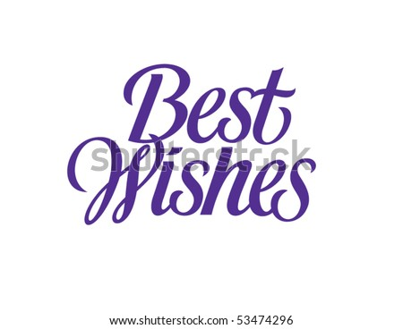 make your wish best wishes lettering typography vector