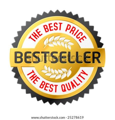 Bestseller emblem. Vector. - stock vector