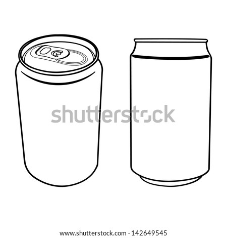 beverage can outline vector  - stock vector