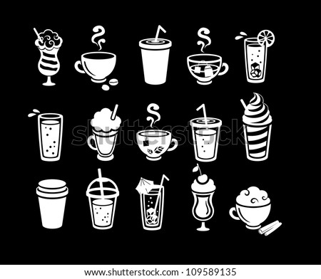 Beverage icons - stock vector