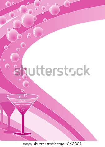 Beverage menu background - stock vector