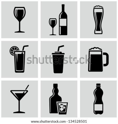 Beverages - stock vector
