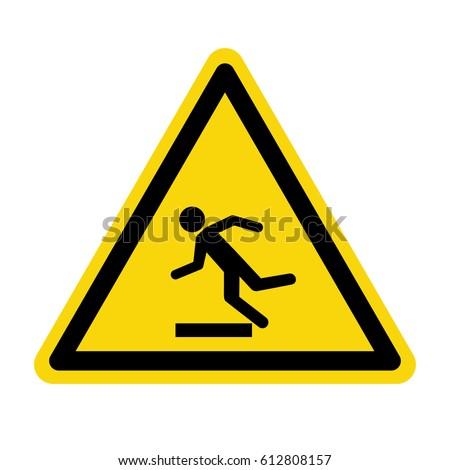Beware Uneven Floor Sign Symbol Vector Stock Vector