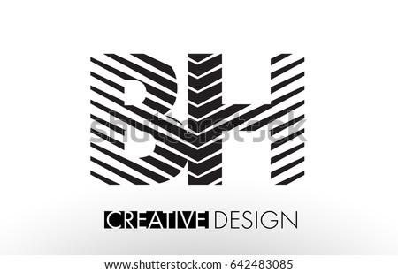 Bh Design estate logo vector stock vector 653373409