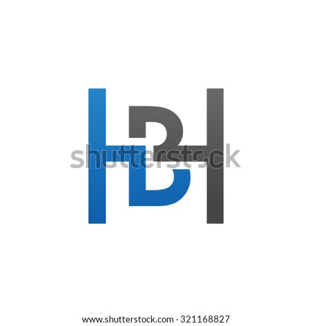 Bh Design bh hb initial company h square stock photo photo vector