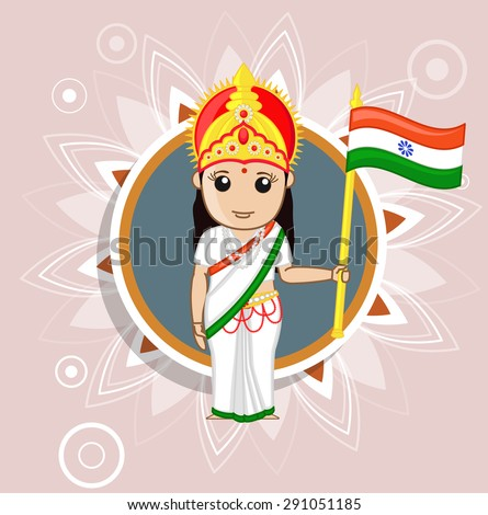 Bharat Mata - Indian Goddess