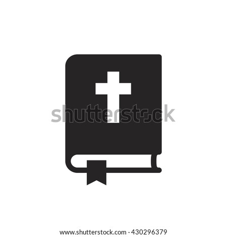 Bible icon isolated - stock vector
