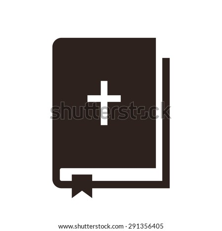 Bible icon isolated on white background - stock vector