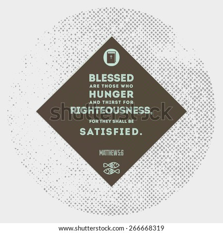 Bible quoter design element - blessed - stock vector - stock vector