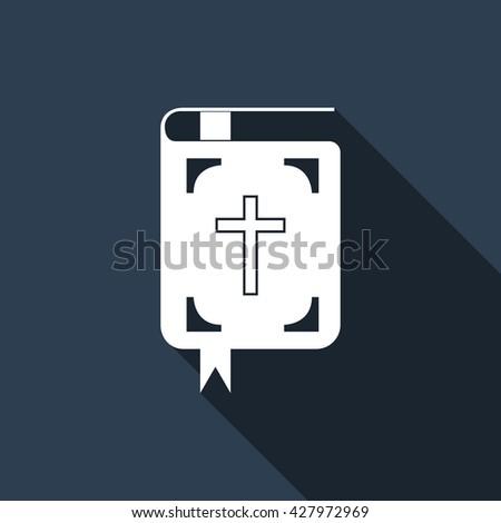 Bible symbol icon, bible symbol icon eps, bible symbol icon vector, bible symbol web icon, bible symbol with long shadow, bible symbol flat icon, bible symbol design icon, bible symbol icon art - stock vector