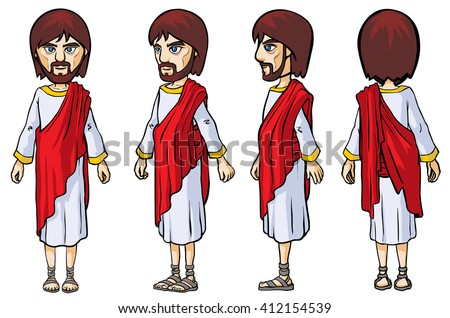 Biblical Character. Four turn-around positions.
