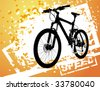 bicycle background - stock vector