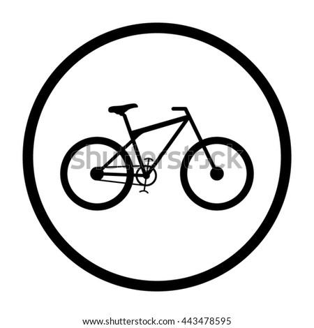 bicycle  - black vector icon - stock vector