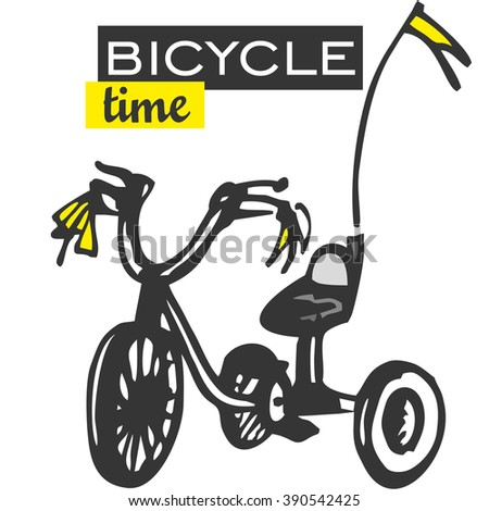 Bicycle card.Vector Illustration - stock vector