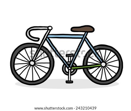 bicycle / cartoon vector and illustration, hand drawn style, isolated on white background. - stock vector