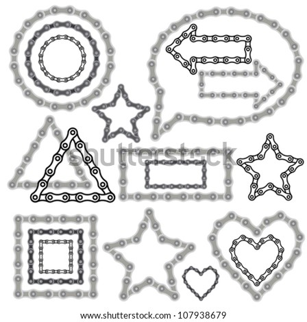 Bicycle chain set - stock vector