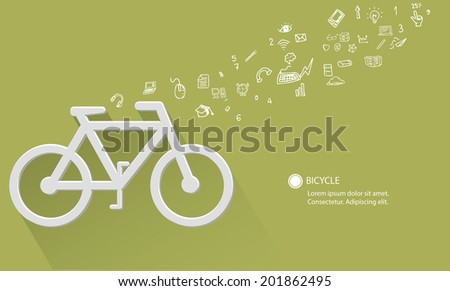 Bicycle concept,green version - stock vector