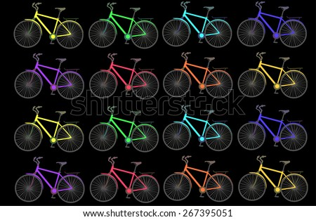 bicycle cycle wheel bike sport illustration vector  - stock vector