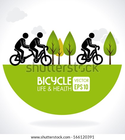 bicycle design over gray background vector illustration   - stock vector