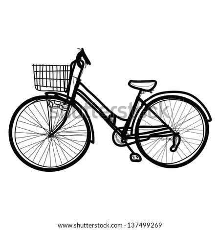 bicycle - Hand drawn - stock vector