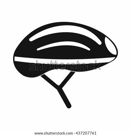 bicycle helmet icon in simple style black bicycle helmet isolated illustration