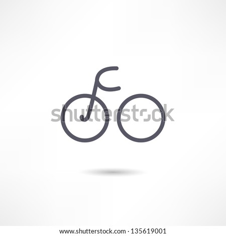 bicycle icon - stock vector