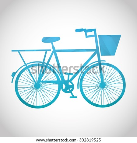 bicycle icon design, vector illustration eps10 graphic