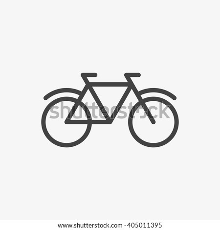 Bicycle Icon in trendy flat style isolated on grey background. Bike symbol for your web site design, logo, app, UI. Vector illustration, EPS10. - stock vector