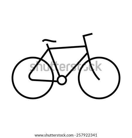 Bicycle icon outline - stock vector