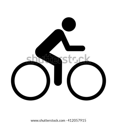 bicycle icon simple - stock vector