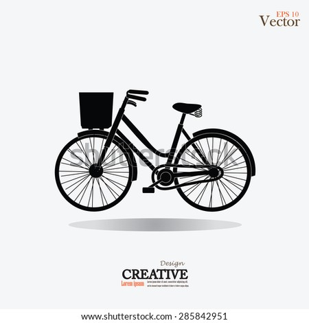 Bicycle icon.vector illustration.