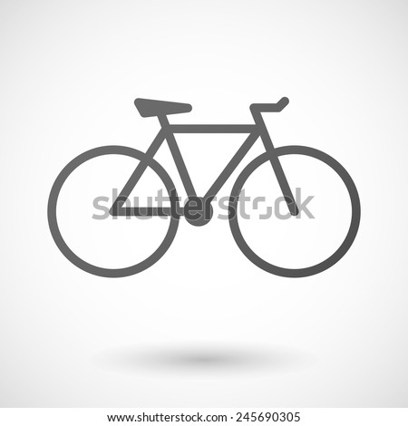 bicycle   icon with shadow on white background - stock vector