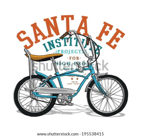 bicycle illustration 2 - stock vector