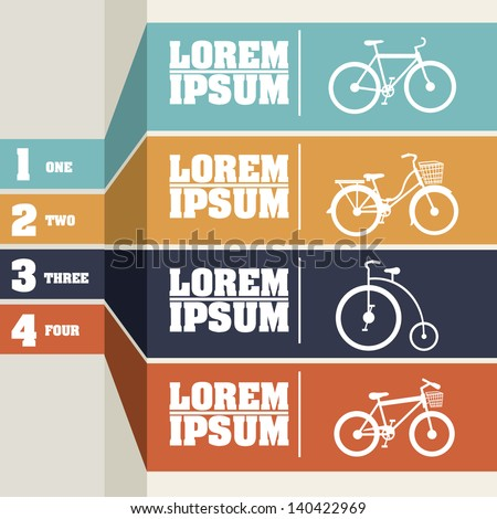 Bicycle infographics  over gray background vector illustration - stock vector