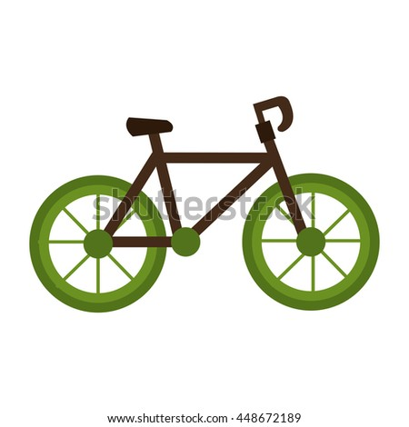 Bicycle isolated flat icon, vector illustration graphic design.